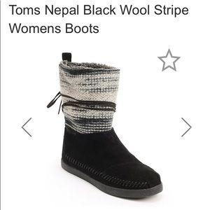 Toms $110 Nepal Suede & Faux Fur Boots